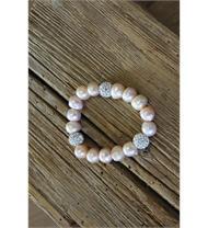 Armband Perlen lachs