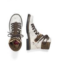 Boots Lametta weiss/br.