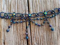 Collier Glasperlen - d.blau