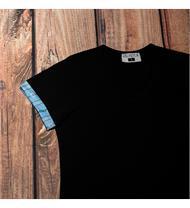 Damen Shirt schwarz EDW blau