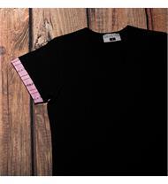 Damen Shirt schwarz EDW pink