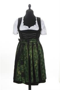 Dirndl Kurz schwarz/grün - Gr.40