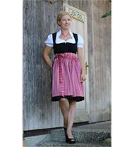 Dirndl Kurz schwarz/pink