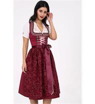 Dirndl Midi Flamenda bordeaux
