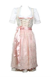 Dirndl Midi Hochzeit rosa - Gr. 40
