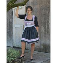 Dirndl Mini rosa/anthrazit