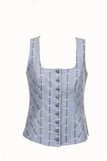 Edelweiss Corsage blau - Gr. 40