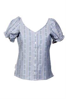EDW-Bluse Rosalie blau - Gr. 34