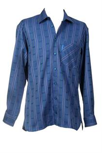 EDW Hemd m'blau MK/LA - L