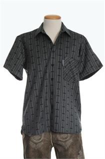 EDW Hemd schwarz MK/KA - L
