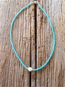 Halskette türkis/Perle