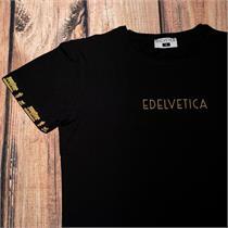 Herrenshirt mit Alpaufzugmotiv und Edelvetica Logo - 3XL