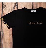 Herrenshirt mit Alpaufzugmotiv und Edelvetica Logo