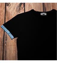 Herrenshirt mit Edelweissstoff in blau