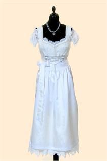 Hochzeitsdirndl Lang Jasmine creme - Gr.36