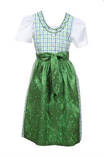 Kinderdirndl blau/grün - Gr. 122