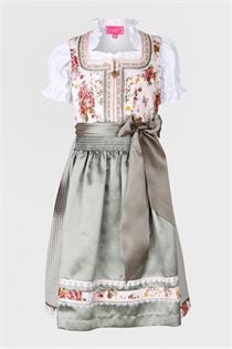 Kinderdirndl inklusive Bluse beige/grün - Gr.140