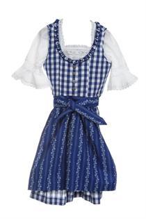 Kinderdirndl inklusive Bluse blau - Gr.110