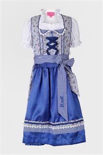 Kinderdirndl inklusive Bluse blau - Gr.122