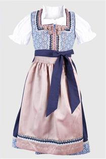 Kinderdirndl inklusive Bluse blau - Gr.140