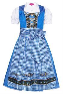 Kinderdirndl inklusive Bluse blau - Gr.158