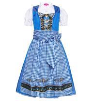 Kinderdirndl inklusive Bluse blau