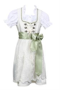Kinderdirndl inklusive Bluse creme/olive - Gr.98