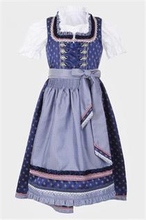Kinderdirndl inklusive Bluse dunkelblau - Gr.122