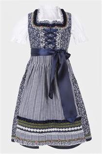 Kinderdirndl inklusive Bluse dunkelblau - Gr.128