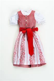 Kinderdirndl inklusive Bluse rot - Gr.110