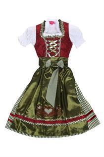 Kinderdirndl inklusive Bluse rot - Gr.122