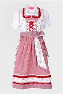 Kinderdirndl inklusive Bluse rot - Gr.140
