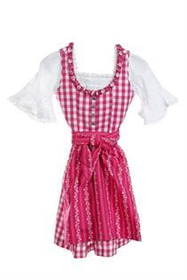 Kinderdirndl pink-weiss/3tlg. - Gr.92