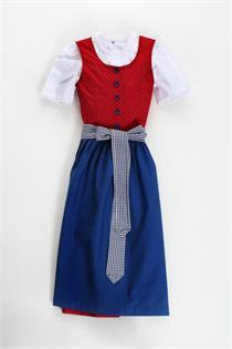 Kinderdirndl rot/blau 3tlg. - Gr.104