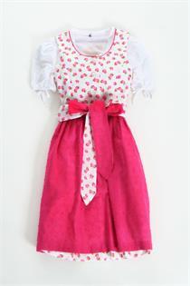 Kinderdirndl weiss/pink - Gr.98