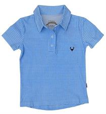 Kinderpolo vichy blau - 110/116
