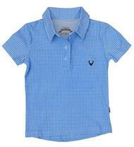 Kinderpolo vichy blau