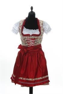 Krüger Dirndl Mini beige/rot - Gr.30