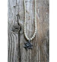 LuiseSteiner Collier Edelweiss Perlenkette creme