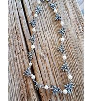 Perl Blumen Kette