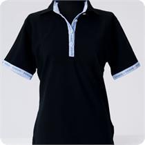 Poloshirt Käthi schwarz/blau - S