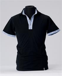Poloshirt Sepp schwarz/blau - XS