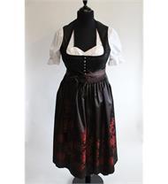 Rose Dirndl Midi rot schwarz