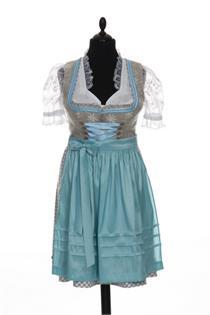Rose Dirndl natur/h'blau - Gr.34