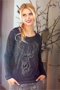 Shirt Grazia dunkelgrau - M
