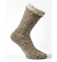Socken mel. d. beige natur