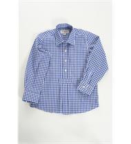 Trachten Kinderhemd blau