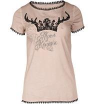 Trachten T-Shirt Alpenkönigin beige