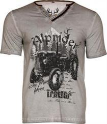 Trachten T-Shirt Alprider grau - S