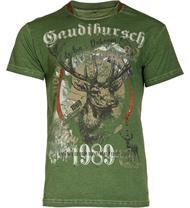 Trachten T-Shirt Gaudibursch grün